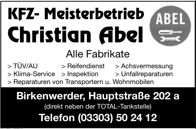 KFZ- Meisterbetrieb Christian Abel
