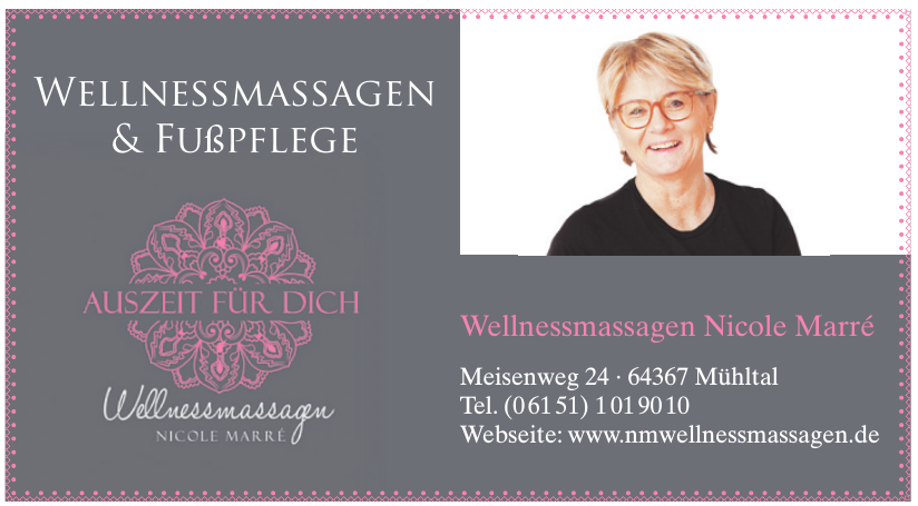 Wellnessmassagen Nicole Marré