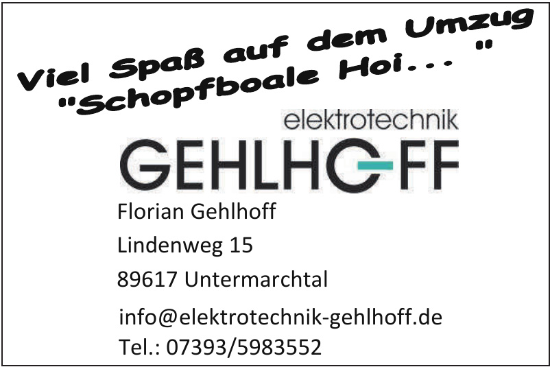 Florian Gehlhoff Elektrotechnik