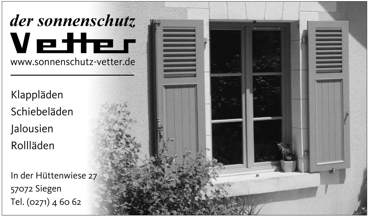 der Sonnenschutz Vetter GmbH