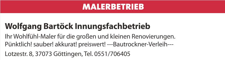 Wolfgang Bartöck Innungsfachbetrieb