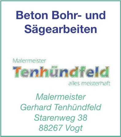 Malermeister Gerhard Tenhündfeld