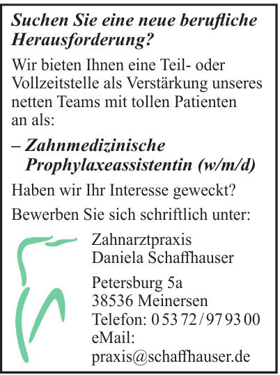 Zahnarztpraxis Daniela Schaffhauser