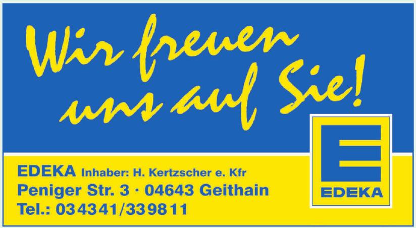 Edeka Inhaber: H. Kertzscher e. Kfr