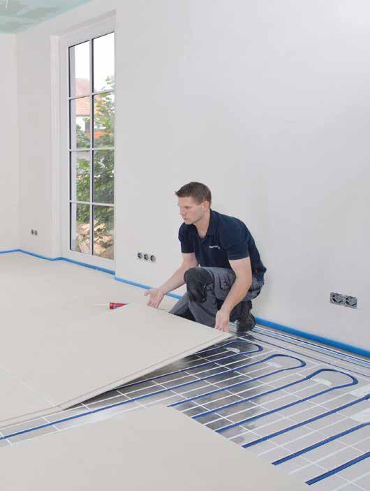Das Gute an Fußbodenheizungen: Die unter der Oberfläche verlegten Heizrohre erwärmen große Flächen.