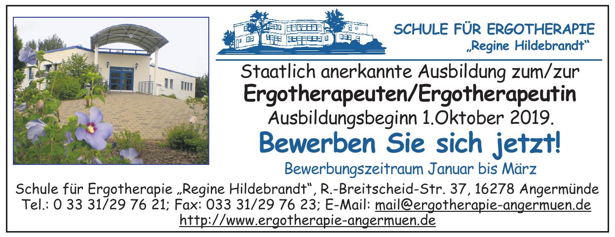 """Schule für Ergotherapie """"Regine Hildebrandt"""""""