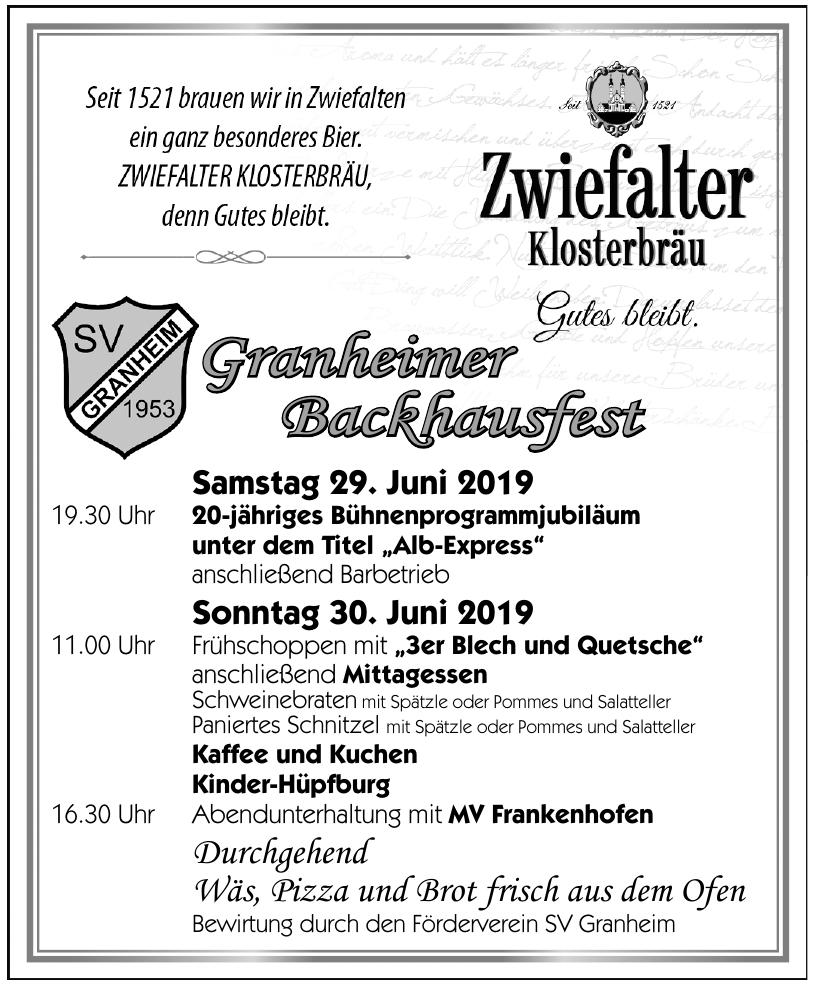 Granheimer Backhausfest