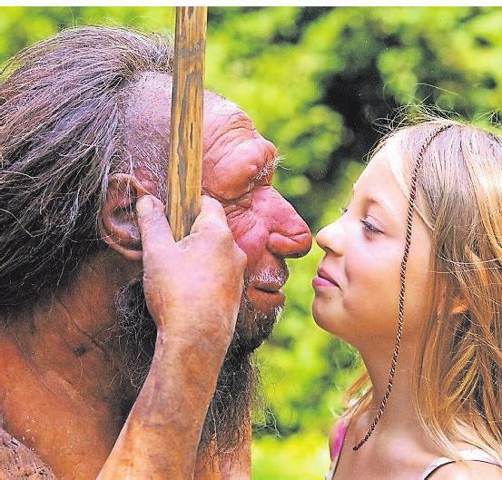 Der Neandertaler fasziniert die ganze Familie. Foto: Stiftung Neanderthal Museum