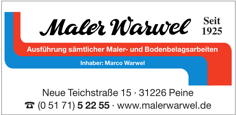 Maler Warwel