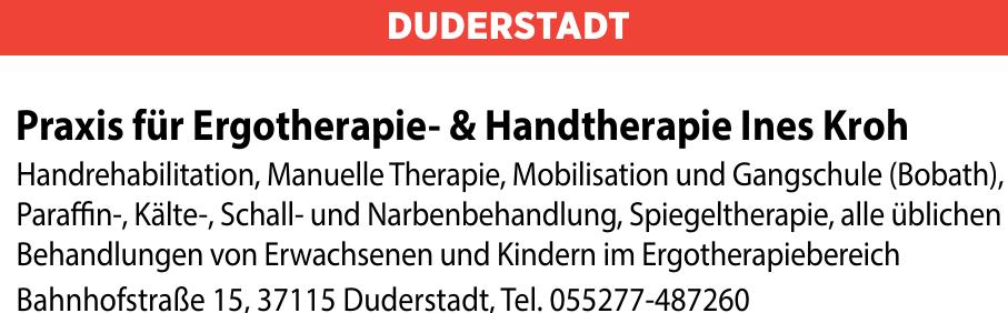Praxis für Ergotherapie- und Handtherapie Ines Kroh