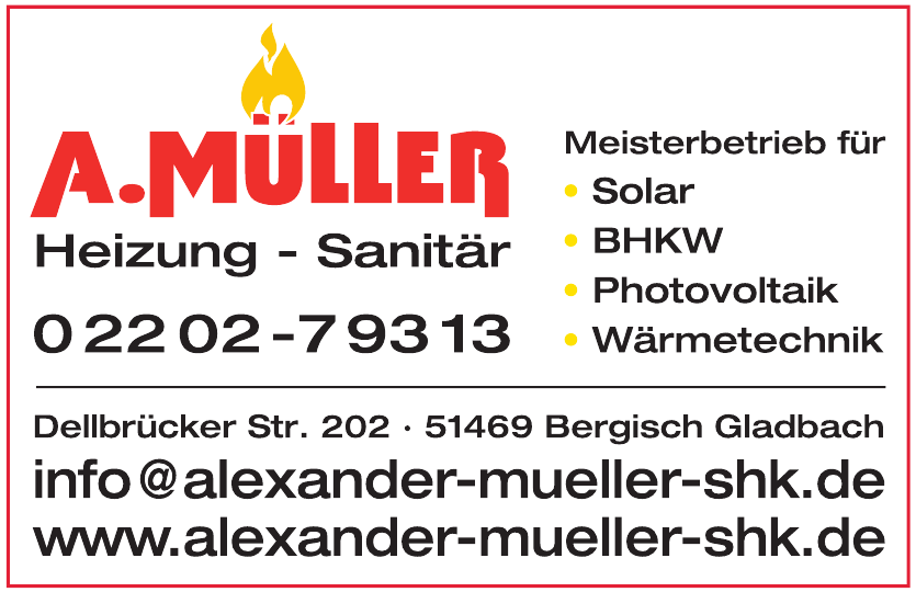 Sanitär & Heizung  Alexander Müller