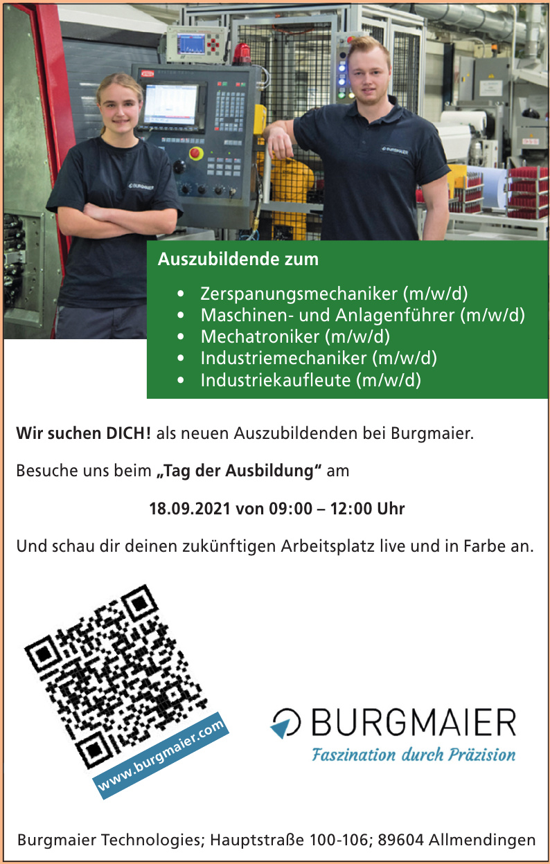 Burgmaier Technologies GmbH + Co KG