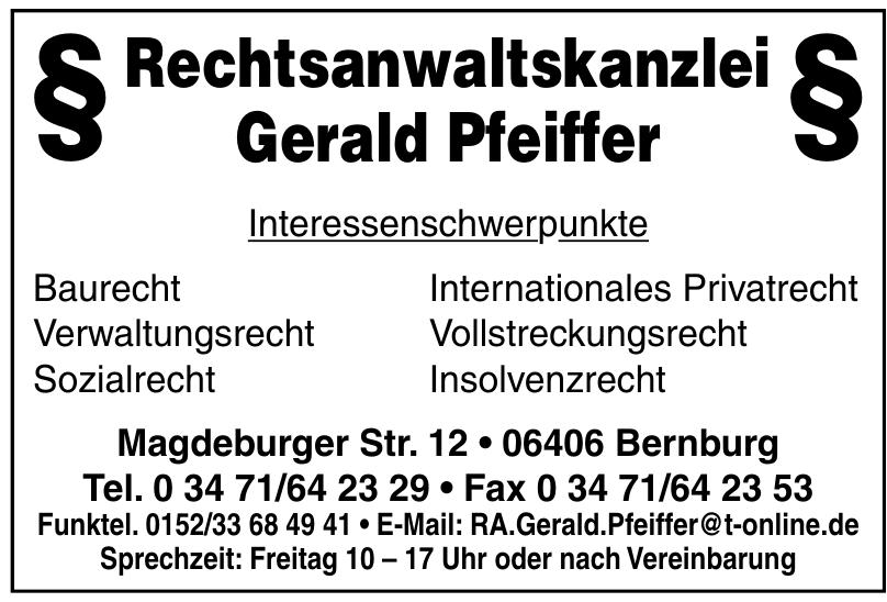 Rechtsanwaltskanzlei Gerald Pfeiffer