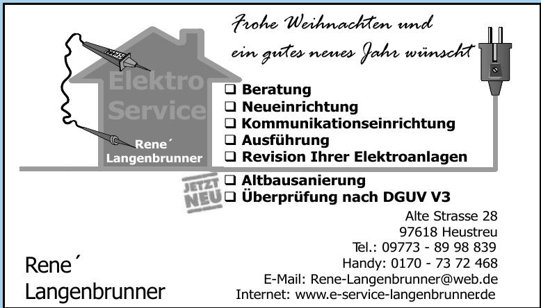 Elektro-Service Rene´ Langenbrunner