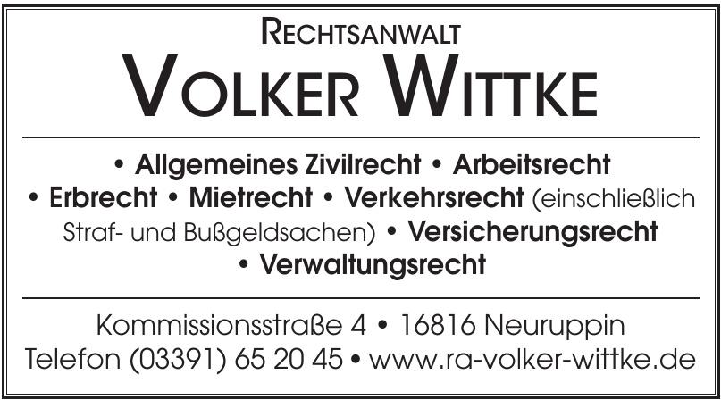 Rechtsanwalt Volker Wittke