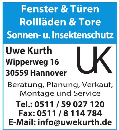Uwe Kurth Fenster & Türen, Rolläden & Tore, Sonnen- u. Insektenschutz