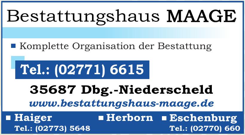Bestattungshaus MAAGE