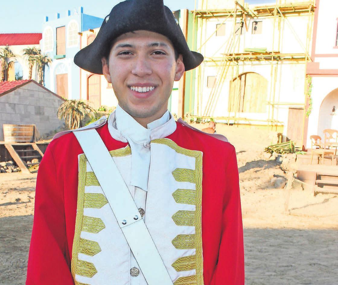David Treschew (19) spielt einen der Soldaten.