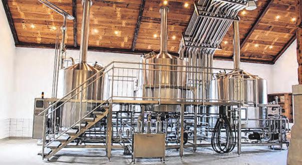 Modern: neues Sudhaus vom Landbrauhaus Hofstetten Fotos: Brauerei Hofstetten