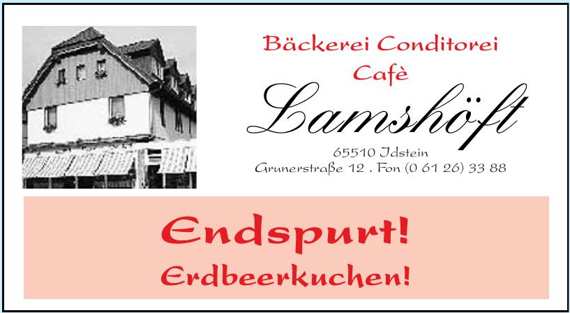 Bäckerei Conditorei Cafè Lamshöft
