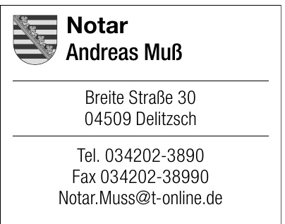 Notar Andreas Muß
