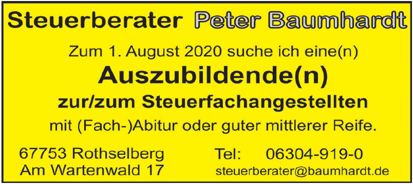 Steuerberater Peter Baumhardt