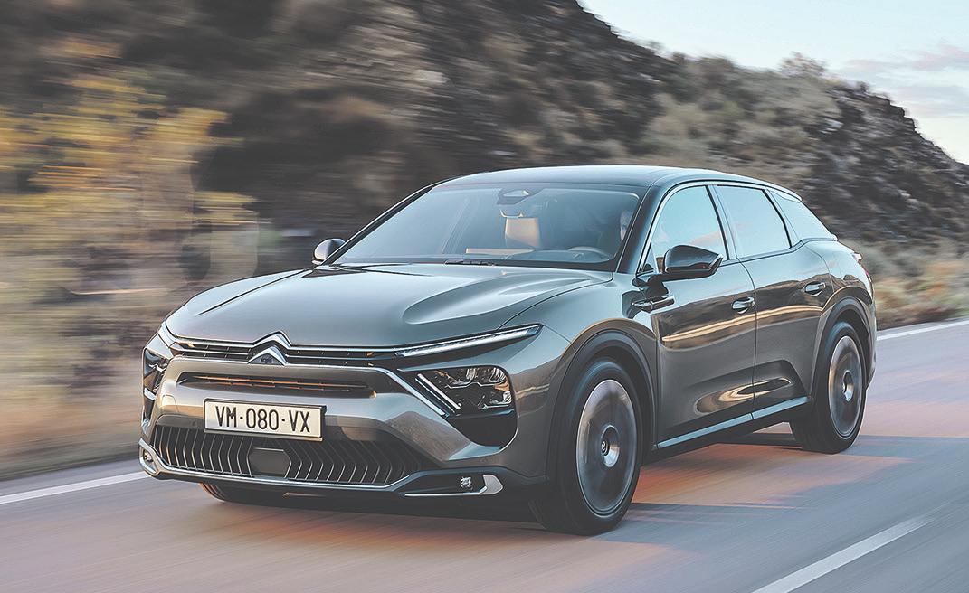 Der neue Citroën C5 X. Das Modell ist derzeit noch nicht zum Kauf erhältlich, Details wie Verbrauchsdaten gibt der Hersteller später bekannt