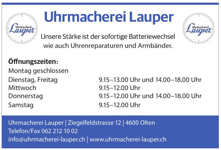 Uhrmacherei Lauper