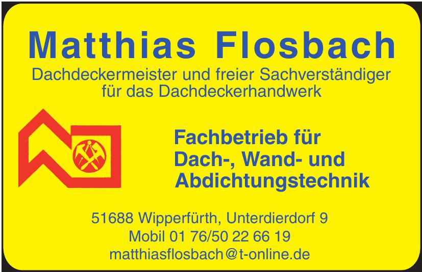 Matthias Flosbach Dachdeckermeister