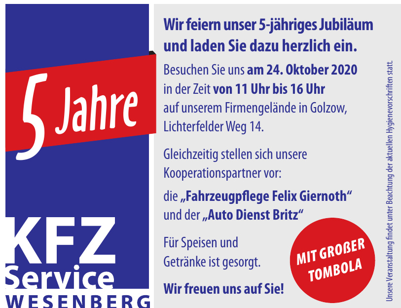 Kfz Service Wesenberg