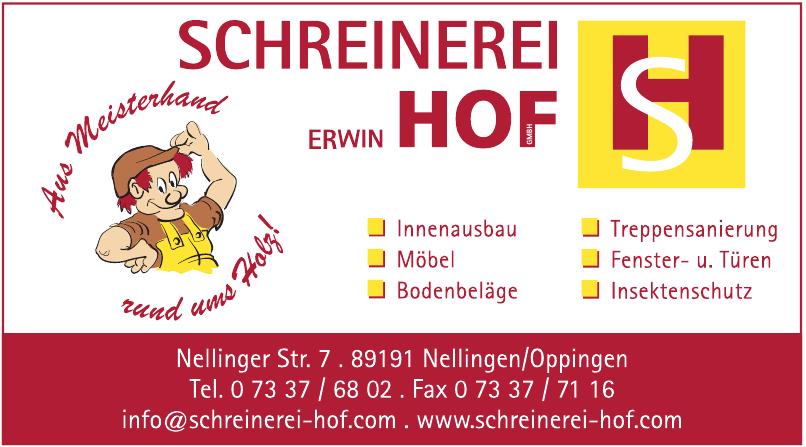 Schreinerei Erwin Hof
