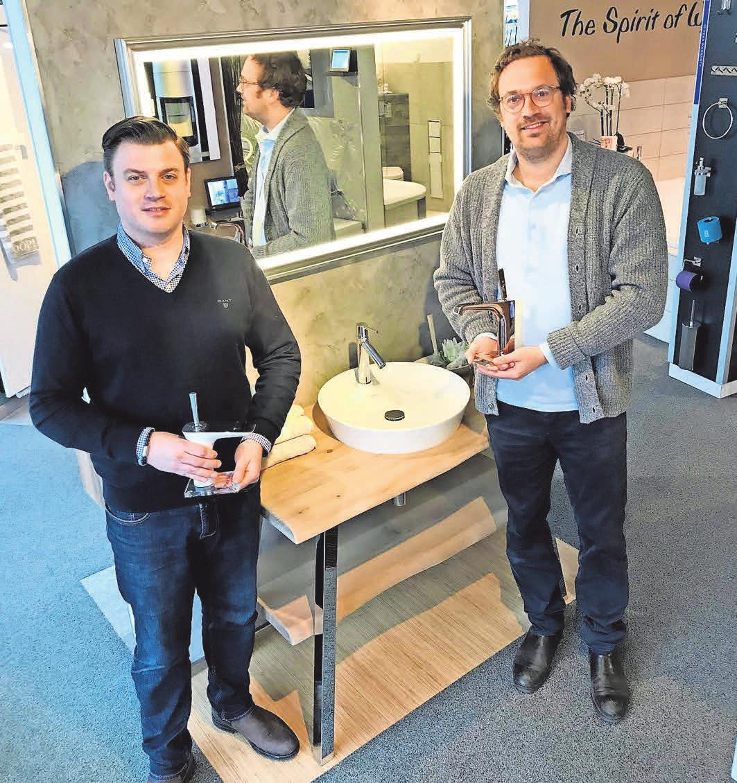 Die Fachleute für Heizung, Klima und Sanitär: Stefan und Sebastian Dose von der Otto Cobobes GmbH. Foto: hfr