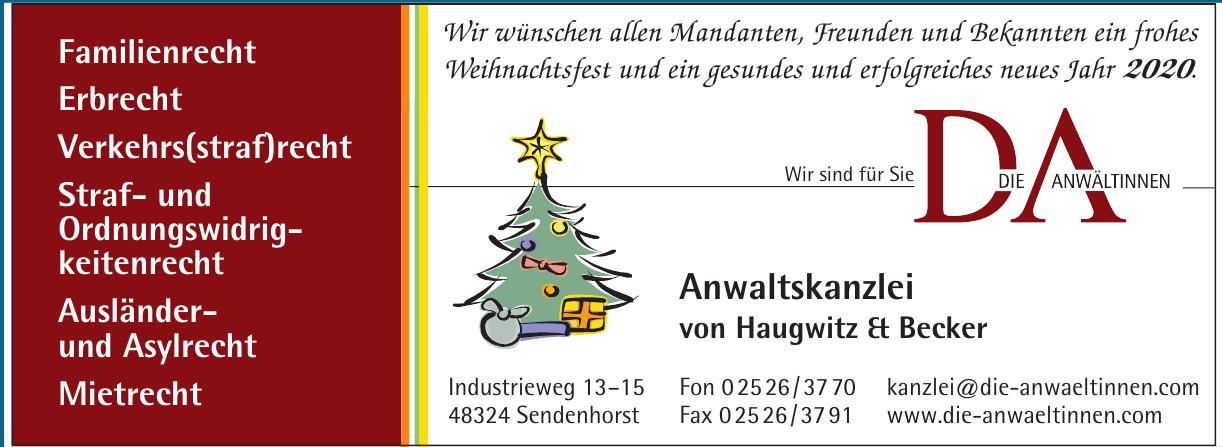 Anwaltskanzlei von Haugwitz & Becker