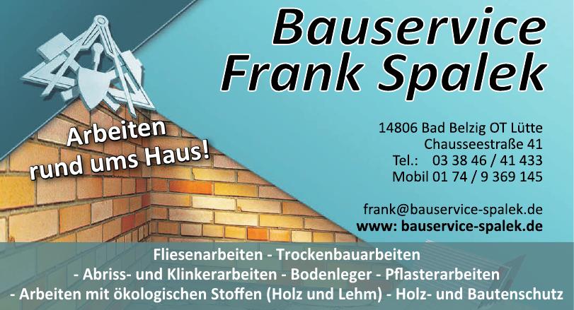 Bauservice Frank Spalek
