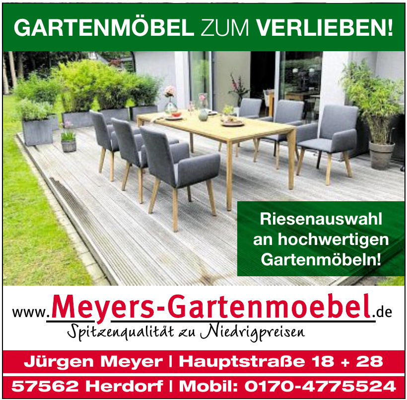 Meyers Gartenmöbel
