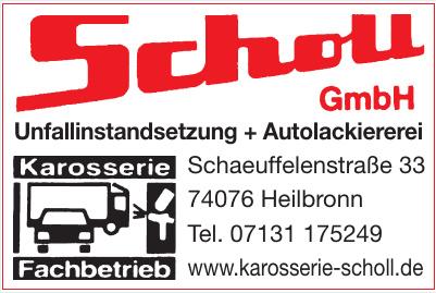 Scholl GmbH Unfallinstandsetzung + Autolackiere