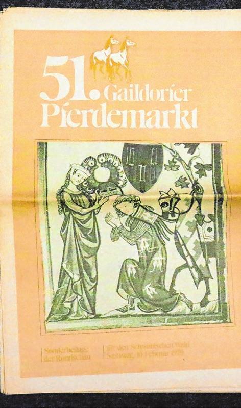 Der 51. Gaildorfer Pferdemarkt fand am Montag, 12. Februar 1979, statt . . .