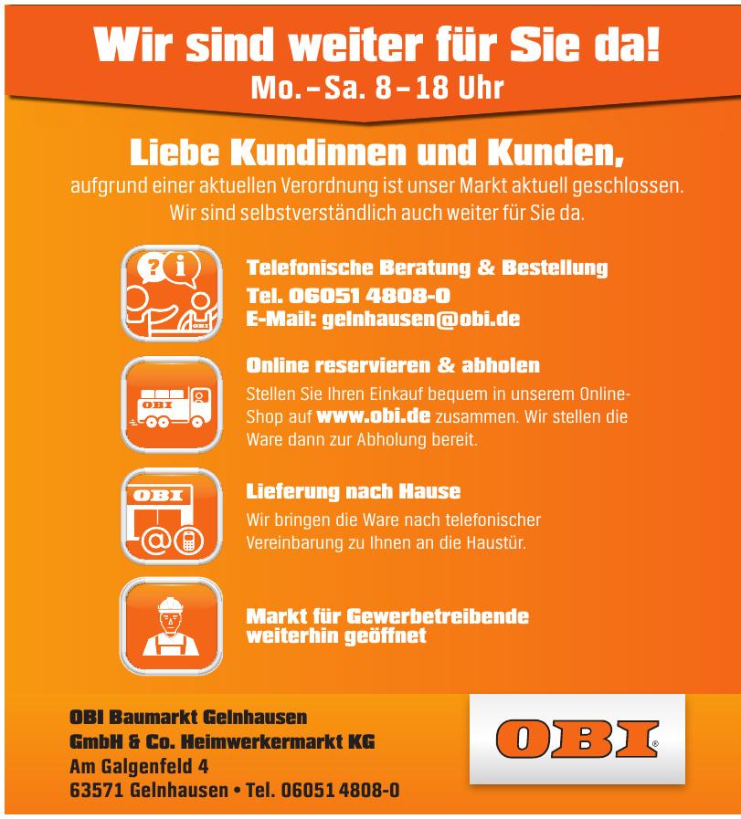 OBI Baumarkt Gelnhausen GmbH & Co. Heimwerkermarkt KG