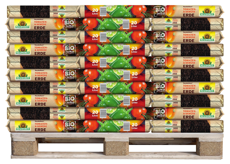NeudoHum Tomaten- und Gemüseerde aus pflanzlichen Stoffen und mit organischem NPK-Dünger. Werkfotos