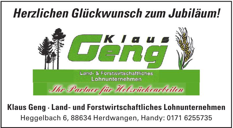 Klaus Geng - Land- und Forstwirtschaftliches Lohnunternehmen