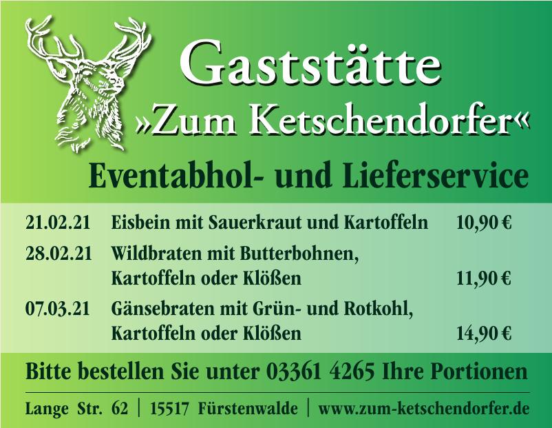 Gaststätte - Zum Ketschendorfer
