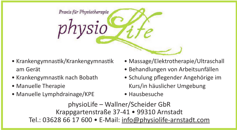 physioLife – Wallner/Scheider GbR