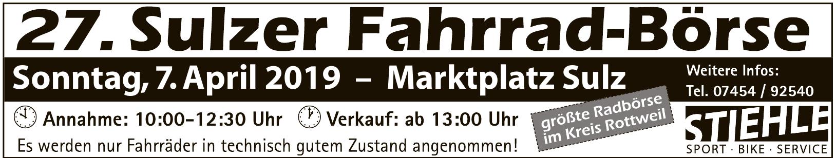 27. Sulzer Fahrrad-Börse