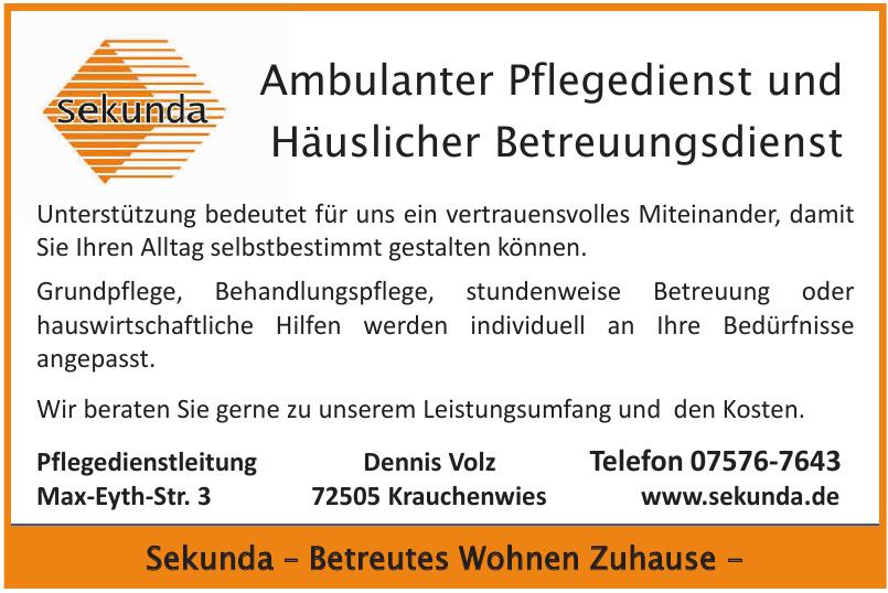 Sekunda Ambulanter Pflegedienst und Häuslicher Betreuungsdienst