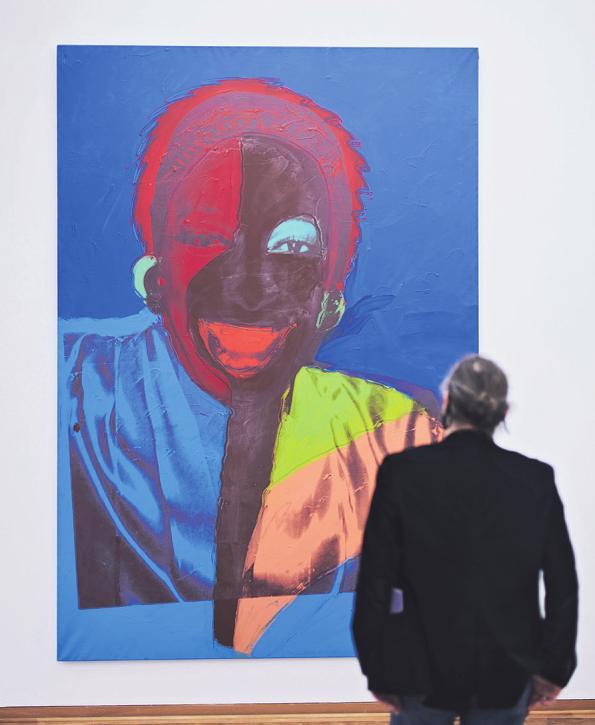 Eines der großformatigen Porträts aus der Serie Ladies and Gentlemen von 1975 Bild: Ladies and Gentlemen (Wilhelmina Ross), 1975, Privatsammlung, Italien
