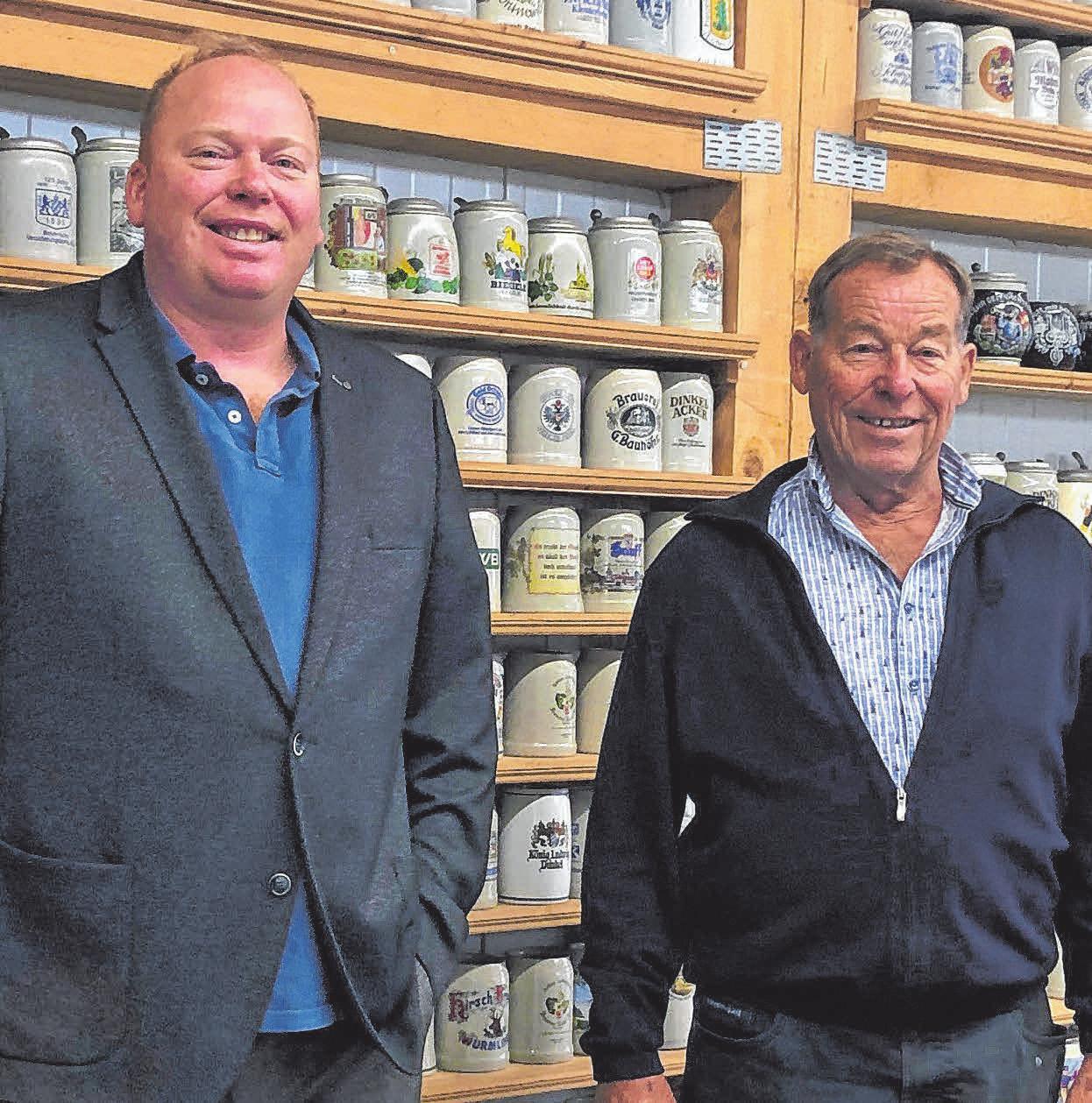 Die Chefs: Michael (l.) und Pius Rauscher. FOTO: MADER