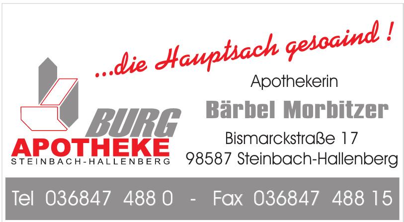Burg Apotheke Steinbach-Hallenberg