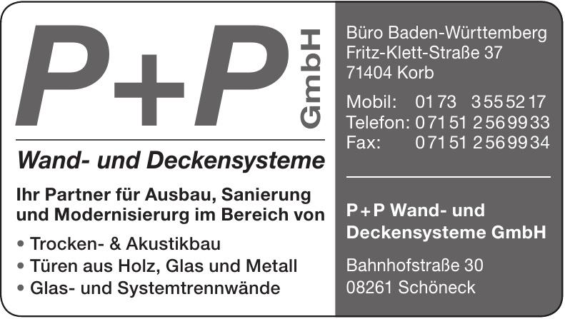 P+P Wand- und Deckensysteme GmbH