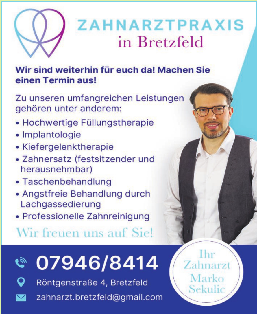 Zahnarztpraxis in Bretzfeld