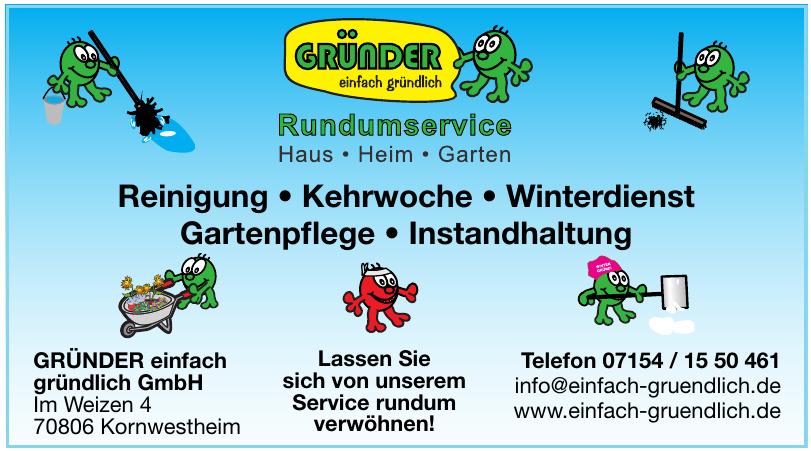 GRÜNDER einfach gründlich GmbH